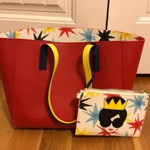 Alice and Olivia Leather Tote